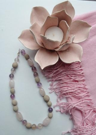 Angies wedding bouquet necklace small